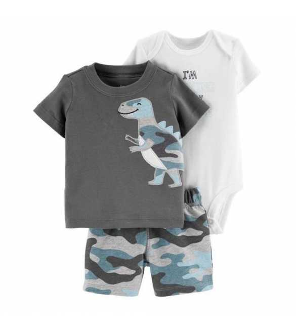 Baby Boy Set 3in1 Dinosaurus