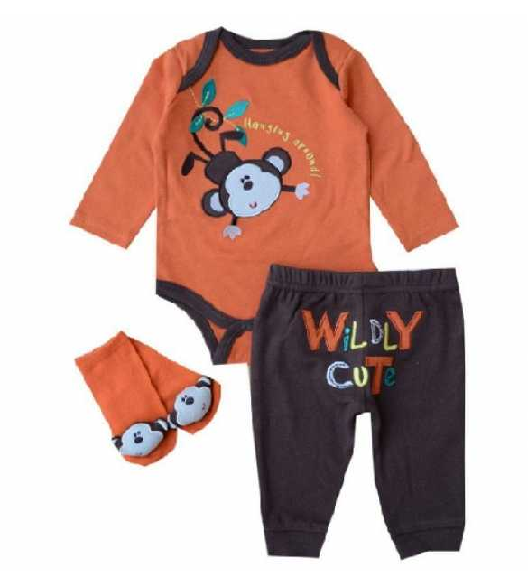 Set Jumper 3in1 Monkey Wildly Cute