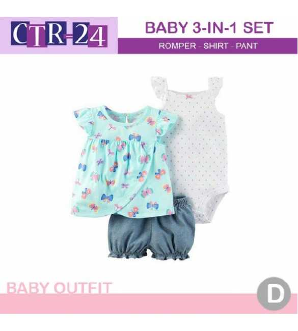 Baby Girl Carter 3in1 Butterfly