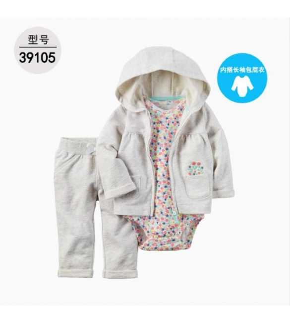Baby Girl Set 3in1 hoodie light white