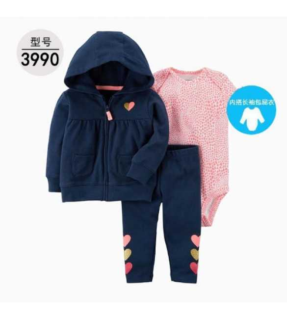 Baby Girl Set 3in1 hoodie navy