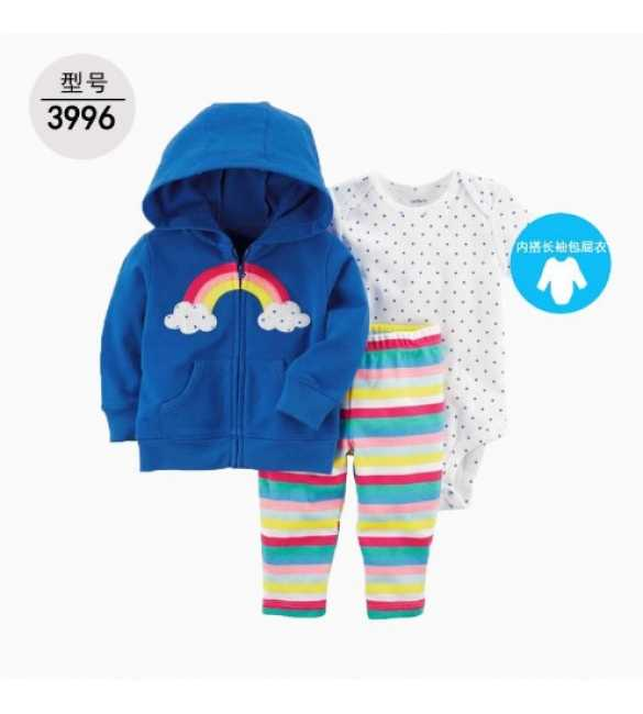 Baby Girl Set 3in1 hoodie rainbow