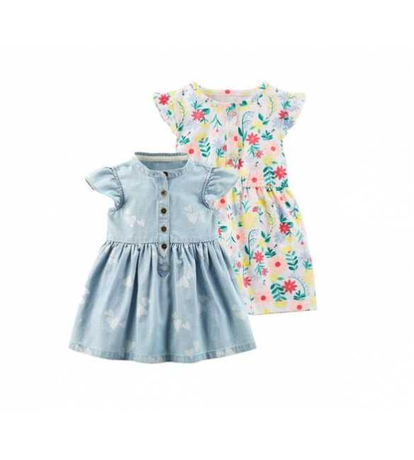 Baby Girl Set Dress 2in1 Carter Flower