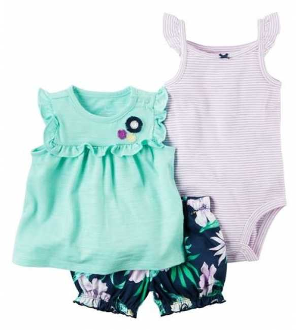 Baby Set Carter 3in1 Flower Pant