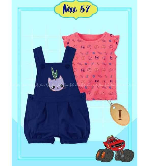 Set Overall anak Bayi Nexx 57 I Little Cat