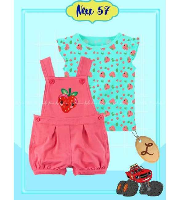 Set Overall anak Bayi Nexx 57 L Strawberry
