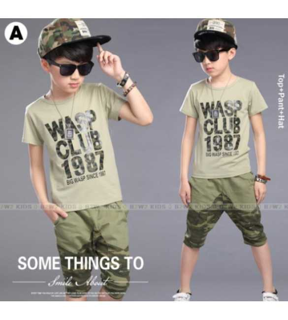 B2W2 12 A_Setelan anak 3in1 Army (MED SIZE)