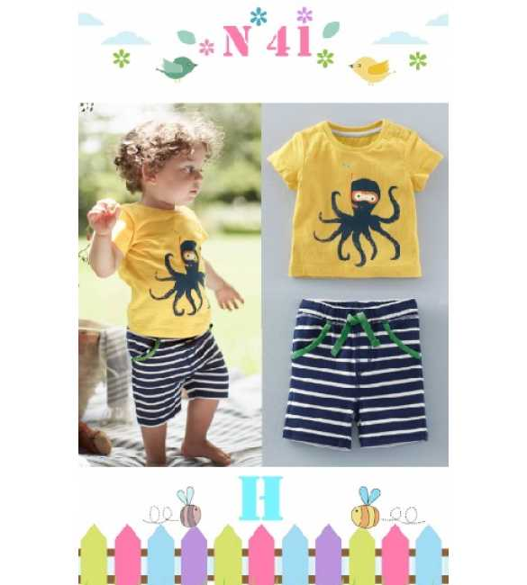Boyset Casual Nexx Kids 41 H Octopus Stripe Pant