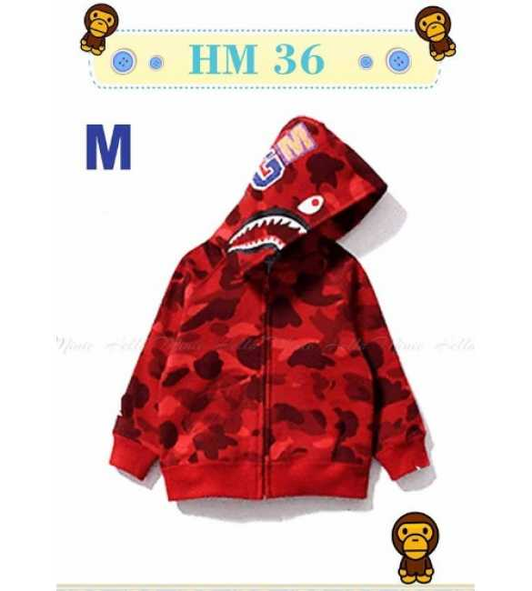 Jaket Hoodie Anak Bape Army Red_HM 36 M (MED SIZE)