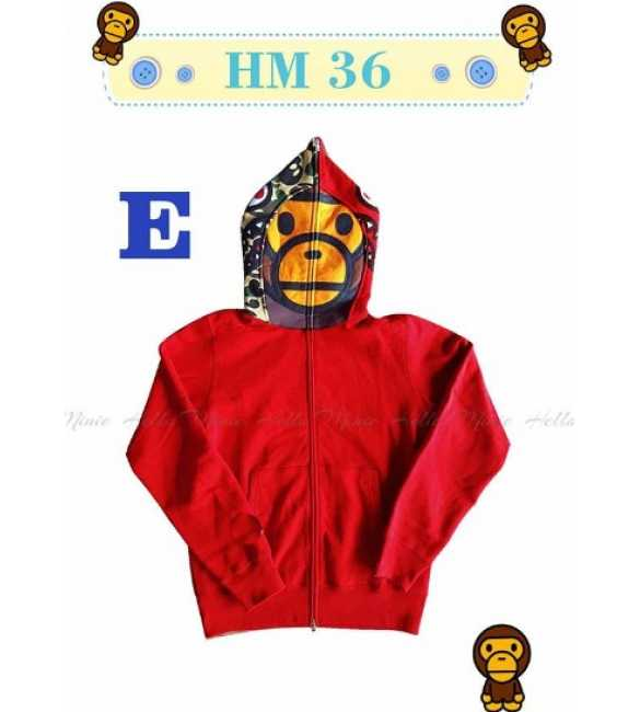 Jaket Hoodie Anak Bape Red_HM 36 E (MED SIZE)