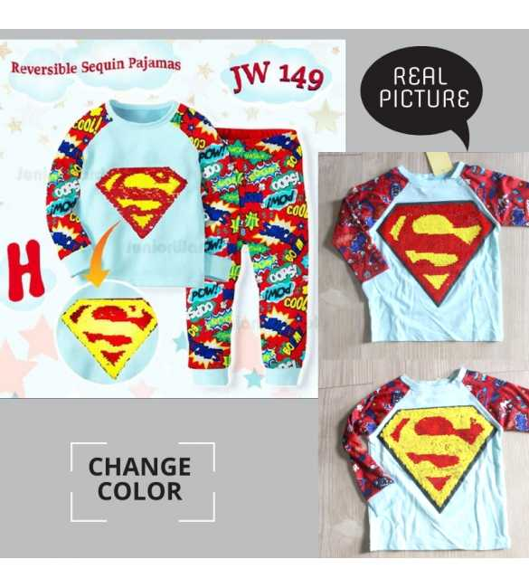 Piyama anak Junior Wardrobe JW 149 H Superman_BIG SIZE