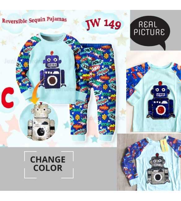 Piyama anak Junior Wardrobe JW 149 C Robot_BIG SIZE