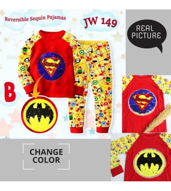Piyama anak Junior Wardrobe JW 149 B Superman_BIG SIZE