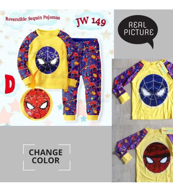 Piyama anak Junior Wardrobe JW 149 D Spiderman _MED SIZE