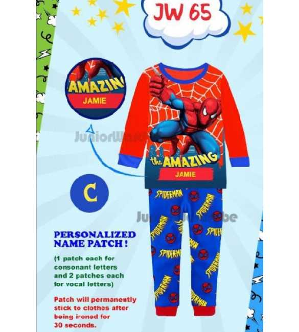 Piyama anak Junior Wardrobe JW 65 C Spiderman (Baby Size)