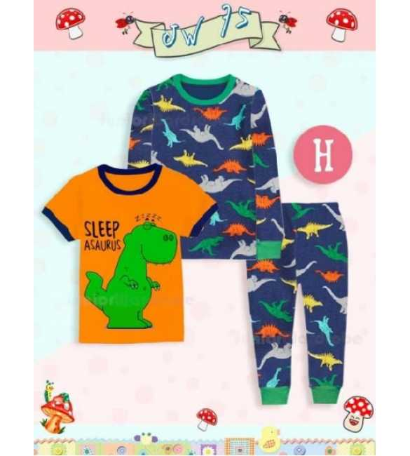 Piyama anak Junior Wardrobe JW 75 H 3in1 Sleep A Saurus (BIG SIZE)