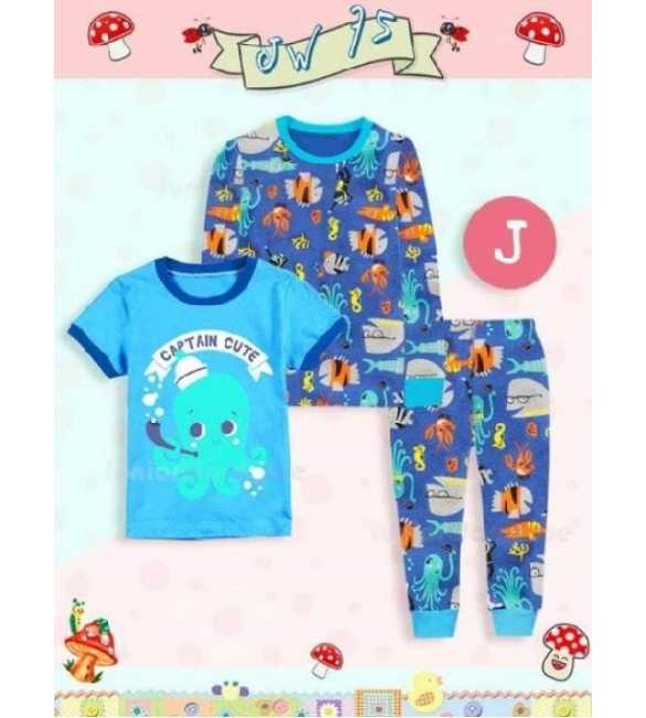 Piyama anak Junior Wardrobe JW 75 J 3in1 Captain Octopus (BIG SIZE)