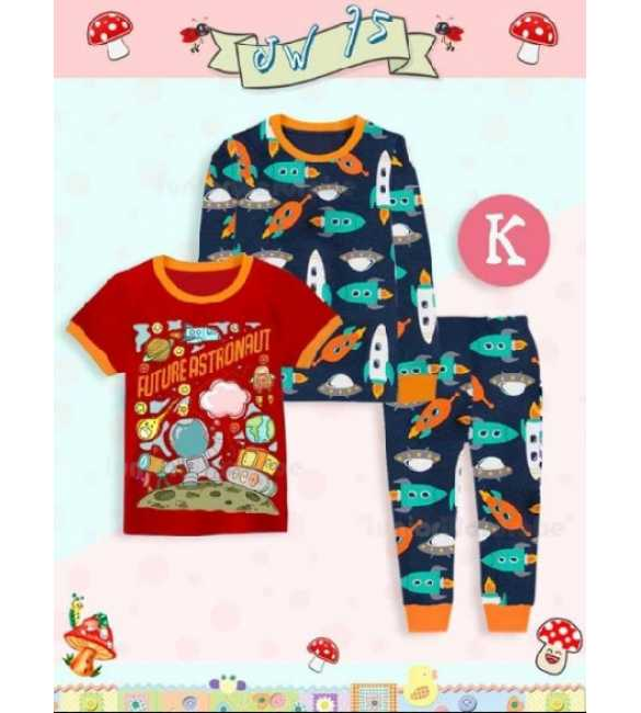 Piyama anak Junior Wardrobe JW 75 K 3in1 Future Astronaut (MED SIZE)