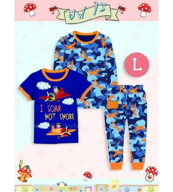 Piyama anak Junior Wardrobe JW 75 L 3in1 Pilot (BIG SIZE)