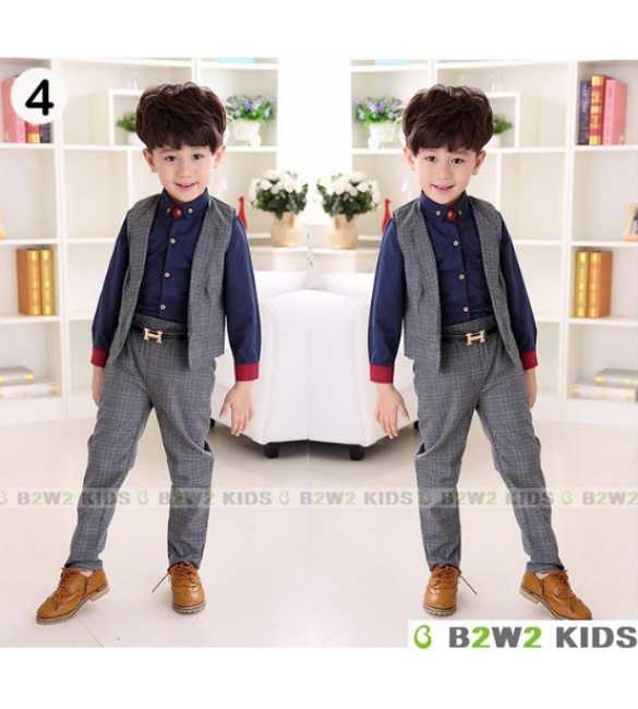 Set B2W2 3in1 Shirt Navy Blue