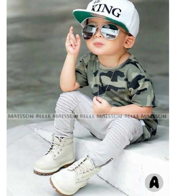 Set Belle Maison Boy Shirt Army (MED SIZE)
