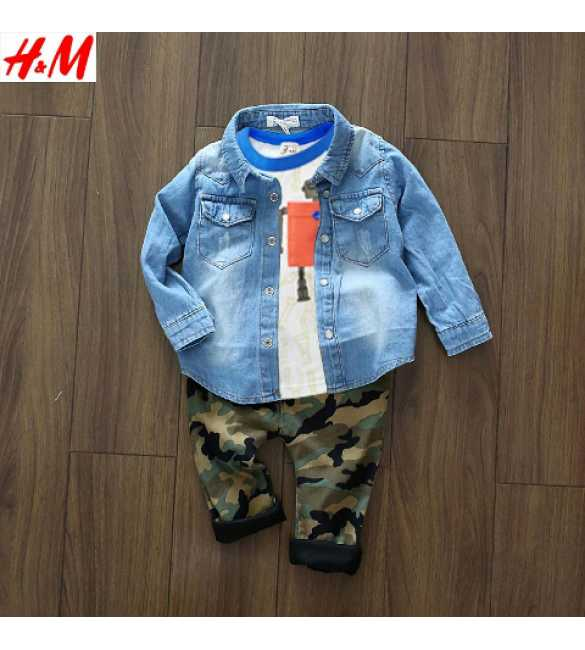 Set Boy Mini Jeans 3in1 Army