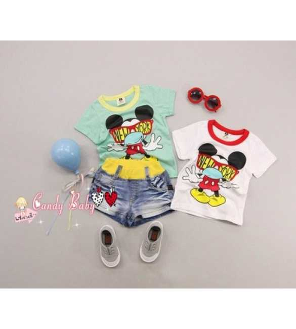 Setelan Candy Baby 3in1 Mickey New York