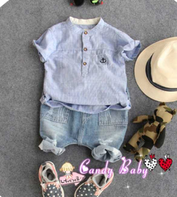 Set Candy Baby Anchor Blue