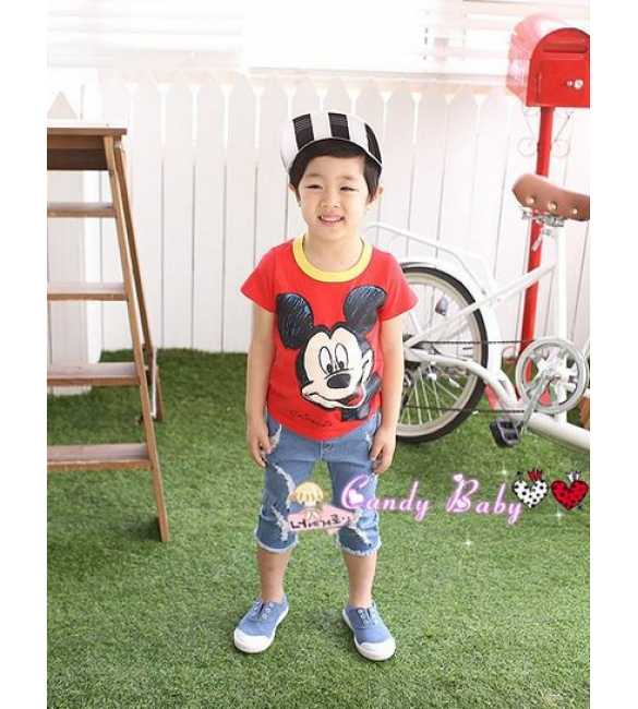 Setelan candy baby mickey mouse red