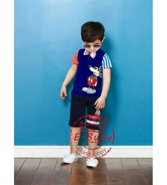 Setelan E-Buty 26 Mickey Mouse Blue