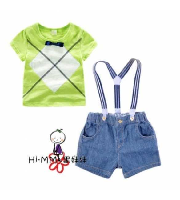 Set Hi-MM Diamond Green Suspender