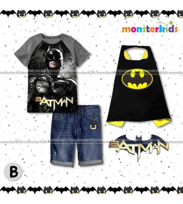 Setelan Anak Monster Kids MK 7B Batman