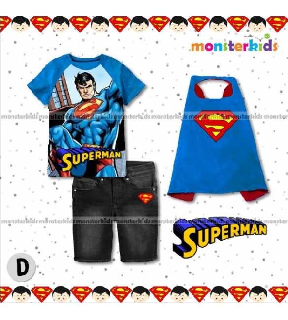 Setelan Anak Monster Kids MK 7D Superman