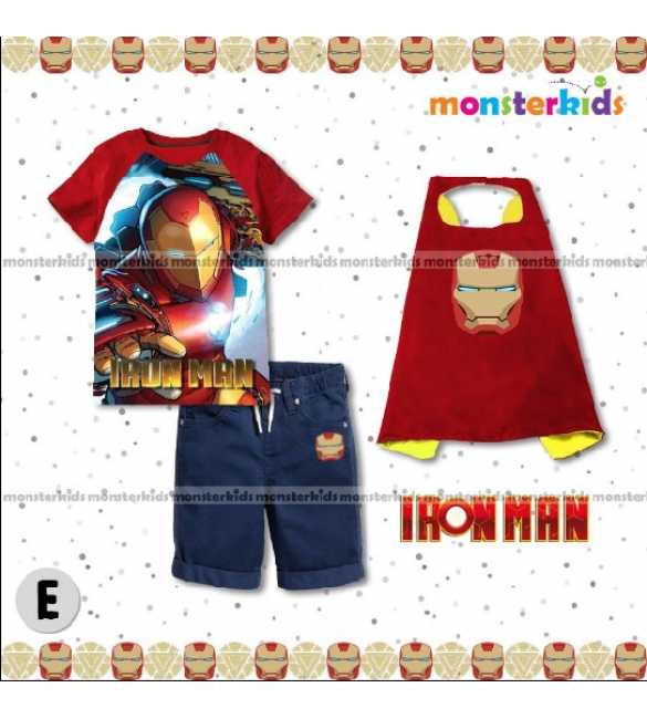Setelan Anak Monster Kids MK 7E Iron Man