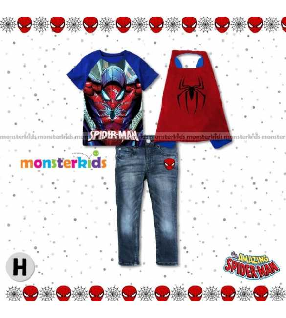 Setelan Anak Monster Kids MK 7H Spiderman