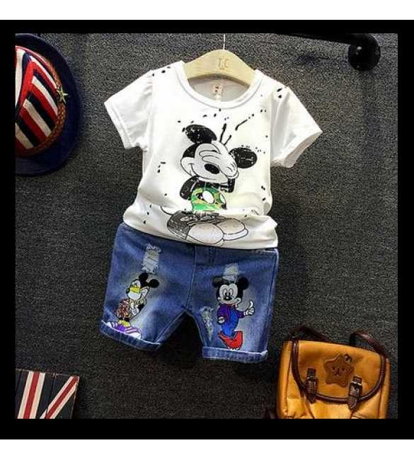 Setelan Korea Mickey Mouse