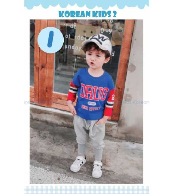 Setelan anak Korean Kids 2 I Drug Blue