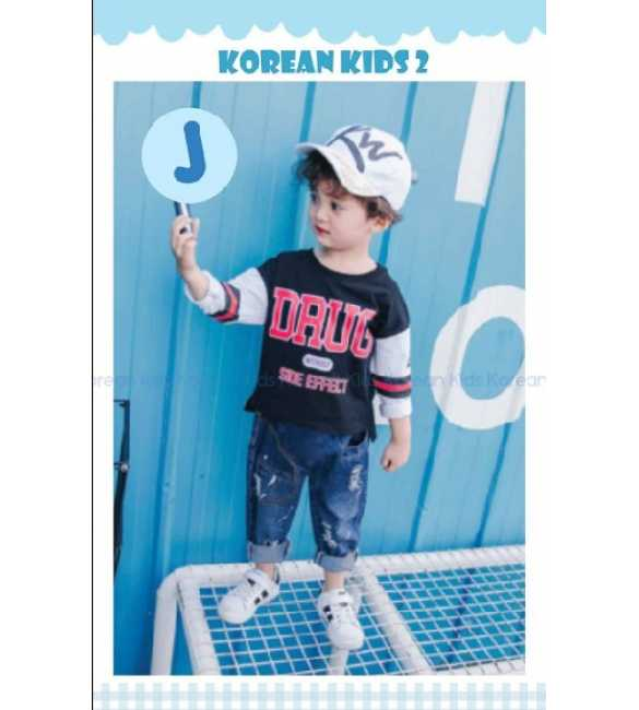 Setelan anak Korean Kids 2 J Drug Black