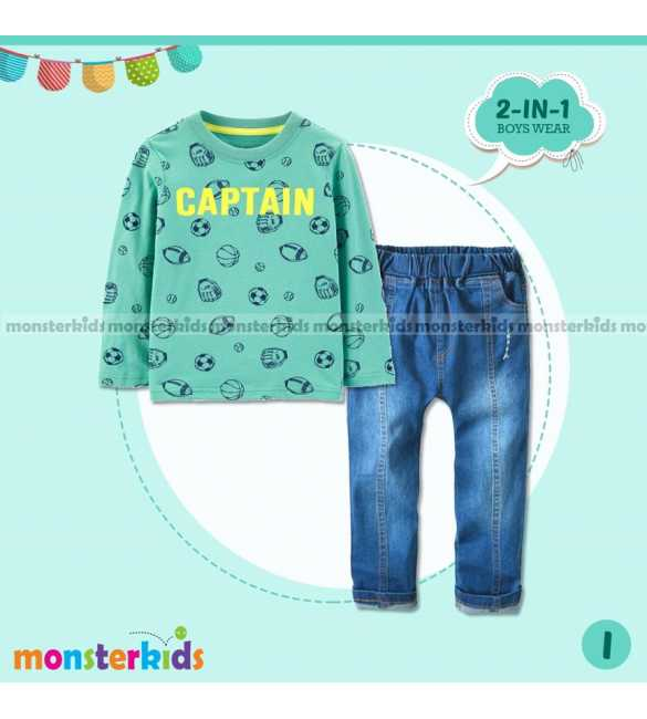 Setelan anak Laki Monster Kids Captain (BIG SIZE)