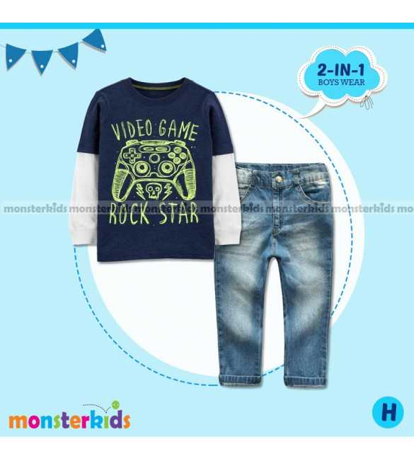 Setelan anak Laki Monster Kids Rock Star (BIG SIZE)
