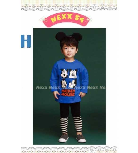 Setelan anak Nexx 54 H Mickey Blue Stripe pants