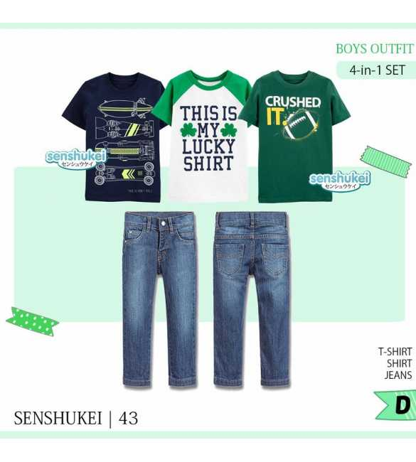 Setelan anak Senshukei 43 D My Lucky Shirt 4 in 1 (BIG SIZE)