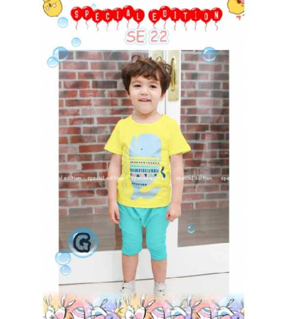Setelan anak Special Edition SE 22 G Whale Yellow (MED SIZE)