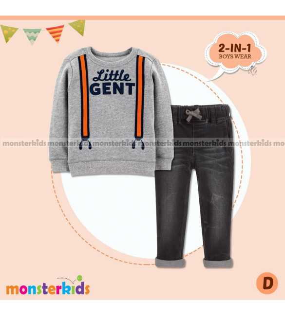 Setelan anak laki Monster Kids Little Gent (BIG SIZE)
