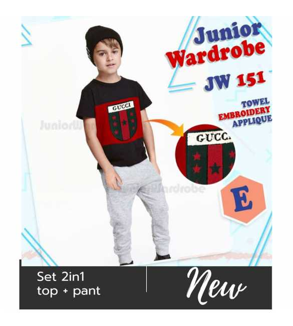 Setelan baju anak Junior wardrobe 151 E Gucci Star (BIG SIZE)