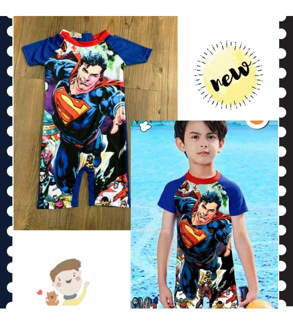 Baju renang anak cowok Kids Happy KH 102 C Superman