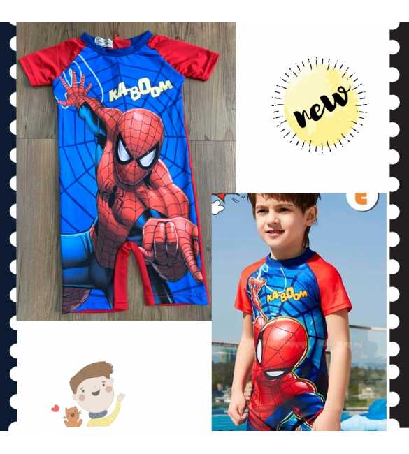 Baju renang anak cowok Kids Happy KH 102 E Spiderman