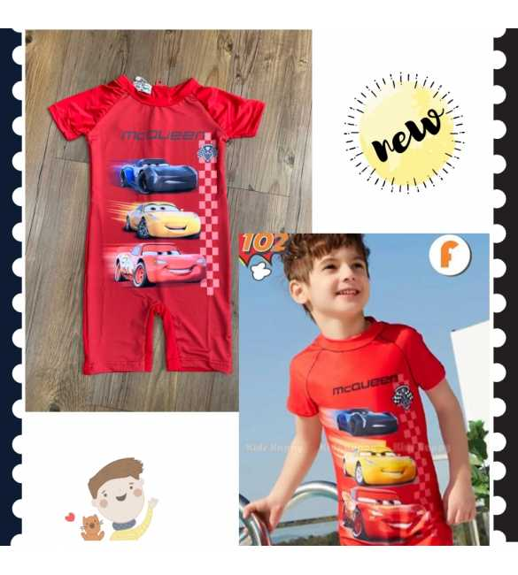 Baju renang swimsuit Kids Happy KH 102 F Cars