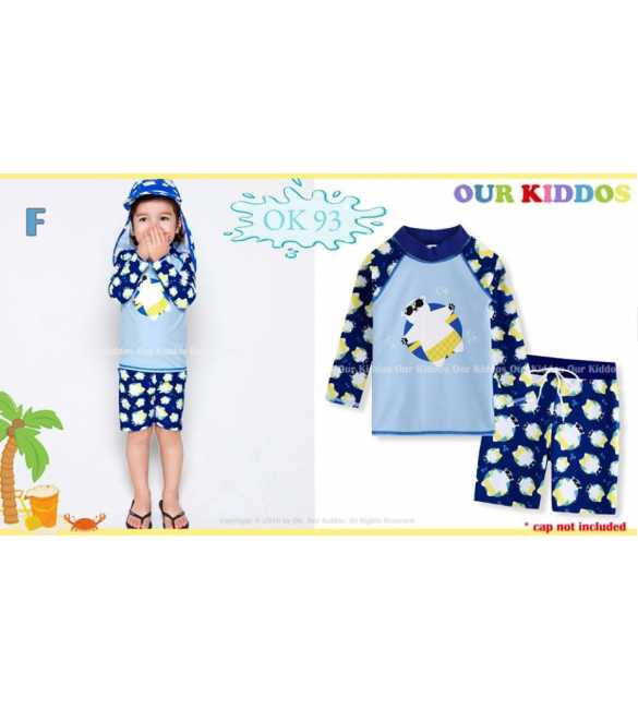 Setelan baju renang anak Our Kiddos OK 93 F Bear (BIG SIZE)