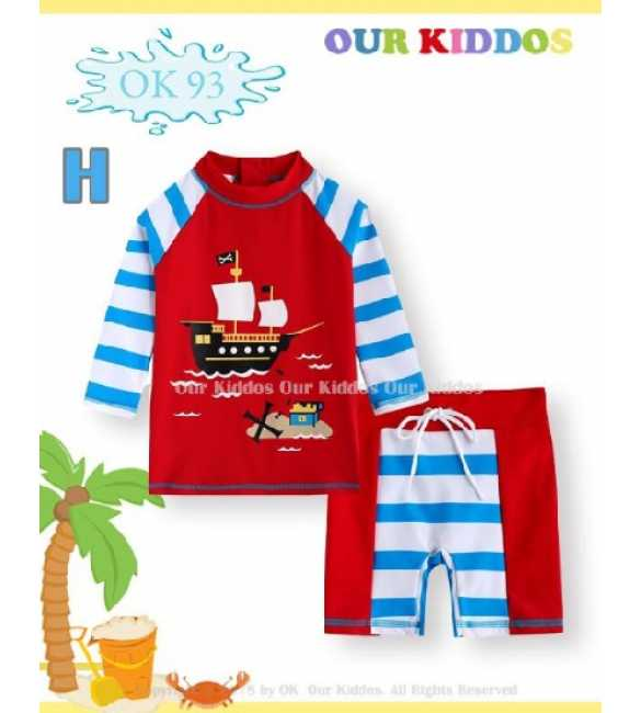 Setelan baju renang anak Our Kiddos OK 93 H Pirates Ship (MED SIZE)